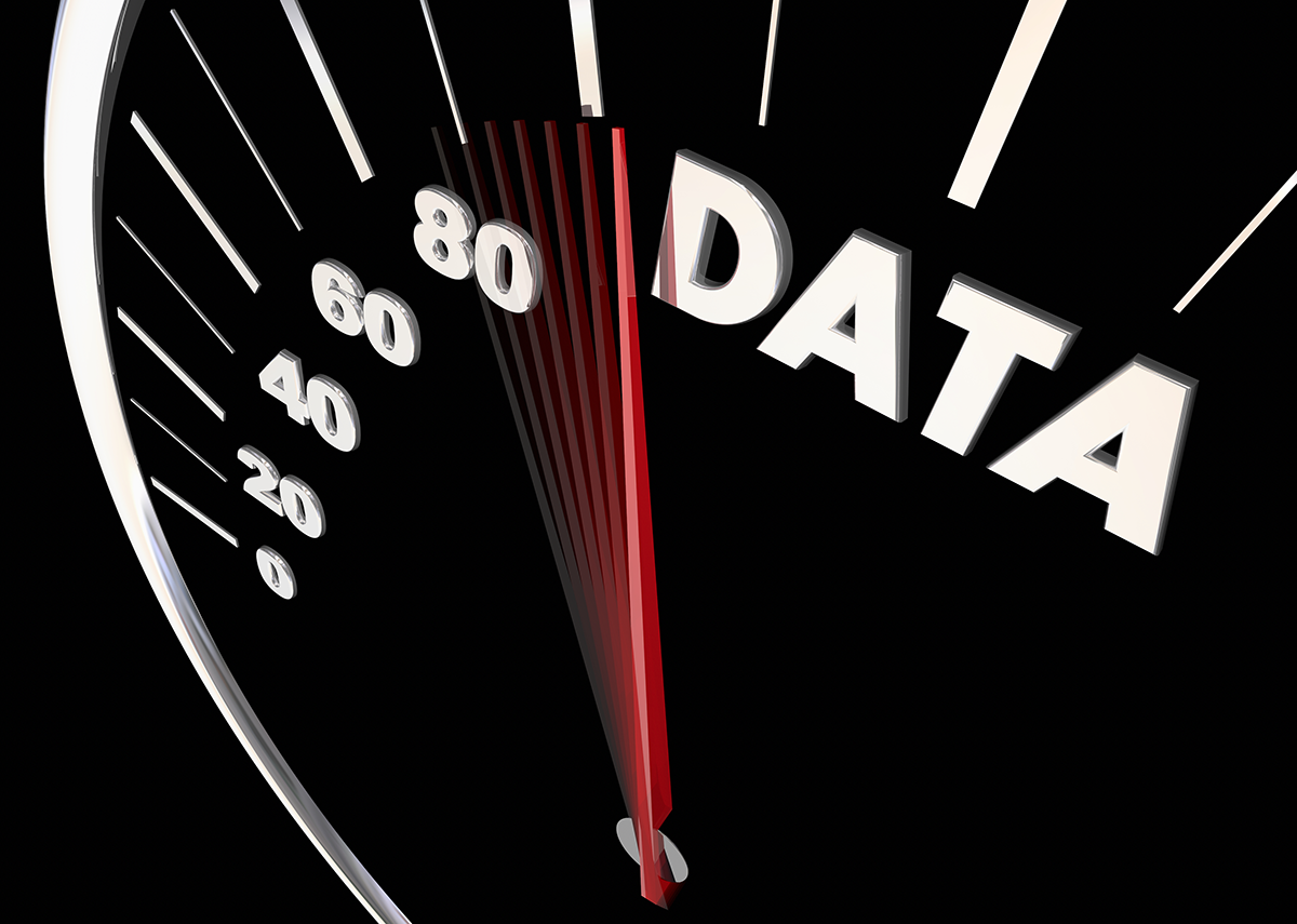 Data Facts Findings Research Information Speedometer